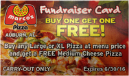 Marco's Pizza Fundraiser card front